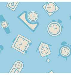 Seamless background with clock vector image vector image