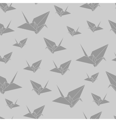 Seamless pattern paper origami swan vector