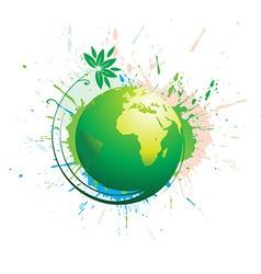 swirl grunge globe vector image