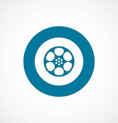 video film bold blue border circle icon vector image vector image