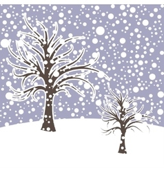 Winter season design landscape with snow vector