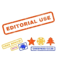 Editorial use rubber stamp vector