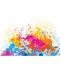 element for design from paint stains vector image