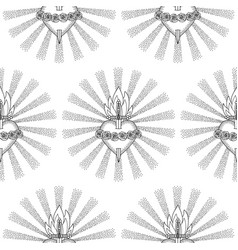 Immaculate heart virgin mary seamless pattern vector