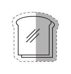 slice bread bakery icon vector image