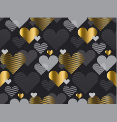 gold love concept icon repeatable motif for vector image