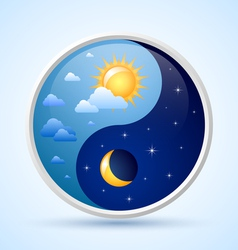 Day and night symbol vector