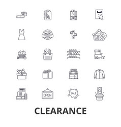 clearance sale stock custom closeout center vector image