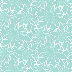 Seamless background flowers on a light blue vector
