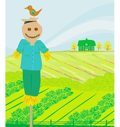 A farm in a beautiful nature vector