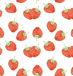 Watercolor strawberry in vintage style vector