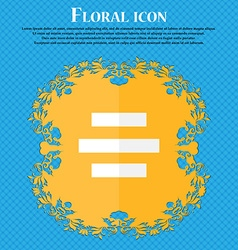 Center alignment icon sign floral flat design on a vector