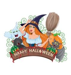 Halloween board composition vector