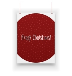 Chistmas poster hanging on white background vector