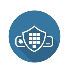 Security Code Icon Flat Design vector image
