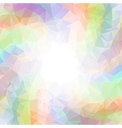 Abstract colorful swirl rainbow polygon around vector image vector image