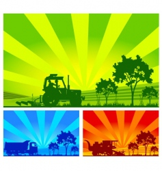 agricultural machinery vector image vector image