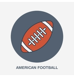 American football line icon Ball logo vector image vector image