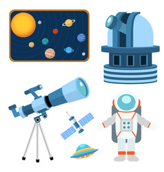 astrology astronomy icons planet science universe vector image