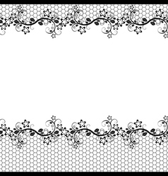 Black lace on white background seamless background vector