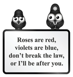 Break the law uk poem vector