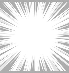 comic book flash explosion radial background vector image