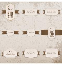 Eid al-fitr realistic design elements set vector