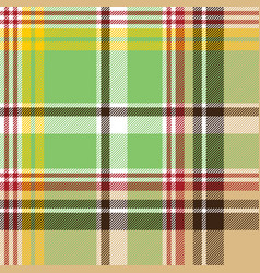 fabric texture plaid green madras seamless pattern vector image vector image