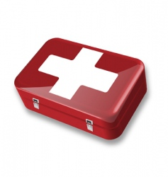 first aid box vector image vector image