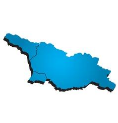 Georgia administrative map vector