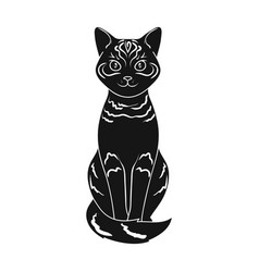 gray catanimals single icon in black style vector image vector image