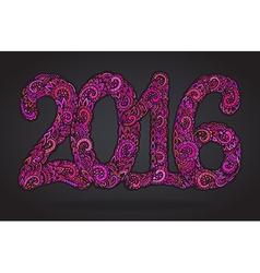 Happy new year 2016 celebration background vector