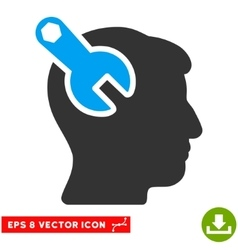 Head neurology wrench eps icon vector