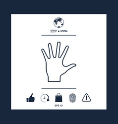 helping hand - line icon vector image