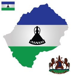 Kingdom of lesotho flag vector