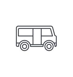 passenger bus thin line icon linear symbol vector image