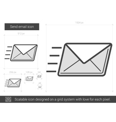 Send email line icon vector