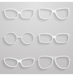 Set of paper sunglasses vector image