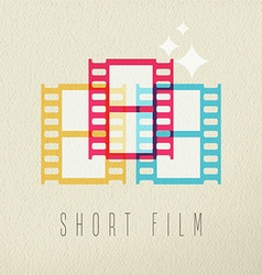 Short film photography icon concept color design vector