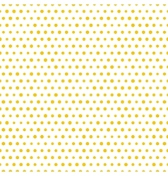 Simple seamless gold polka dot background vector image vector image
