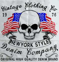 Skull fashion t shirt graphic design vector