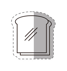 Slice bread bakery icon vector