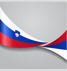 slovenian wavy flag vector image