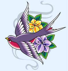 swallow design vector image vector image