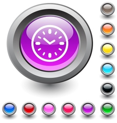 Time round button vector image vector image