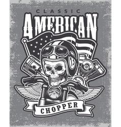 Vintage motorcycle print vector