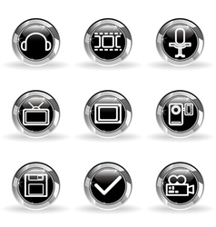 Glossy icon set 30 vector