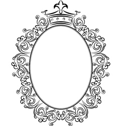 Frame with crowns vector