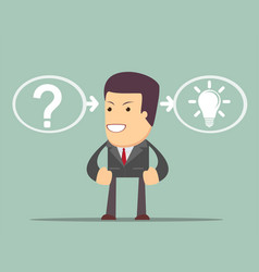 Thinking or problem solving business concept vector