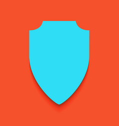 Shield sign whitish icon on vector